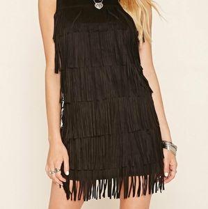 Little black dress Mini fringe dress